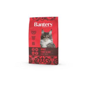 Banters Adult Cat Turkey & Rice 2kg